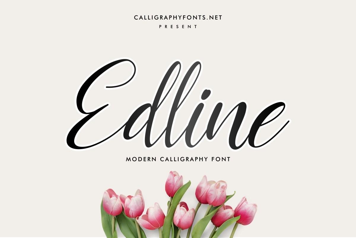 Edline-Modern-Calligraphy-Script-Font