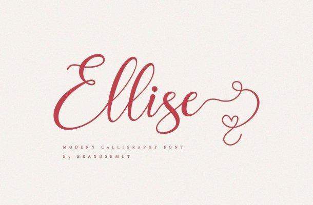 Ellise Calligraphy Script Font