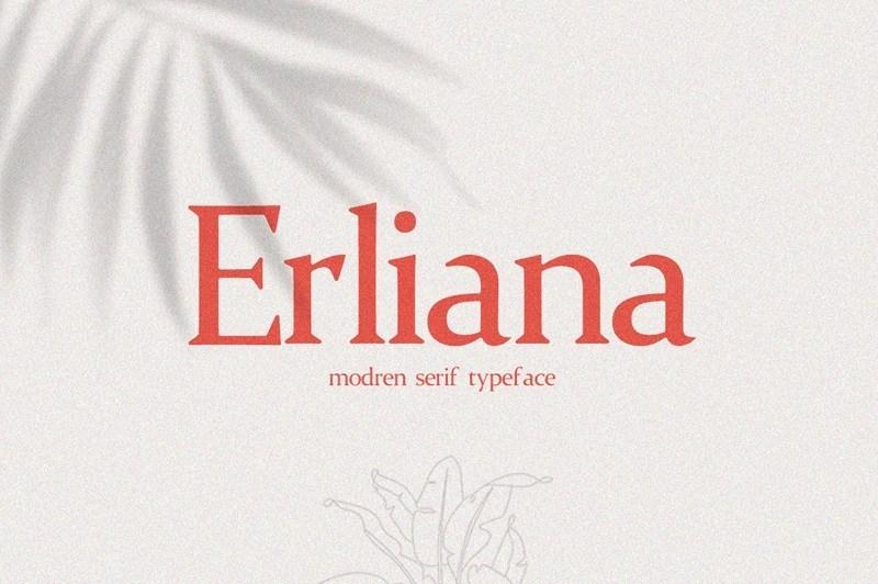 Erliana-Modern-Serif-Typeface