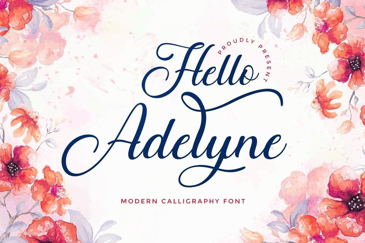 Hello-Adelyne-Calligraphy-Script-Font