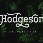 Hodgeson Calligraphy Slab Serif Font