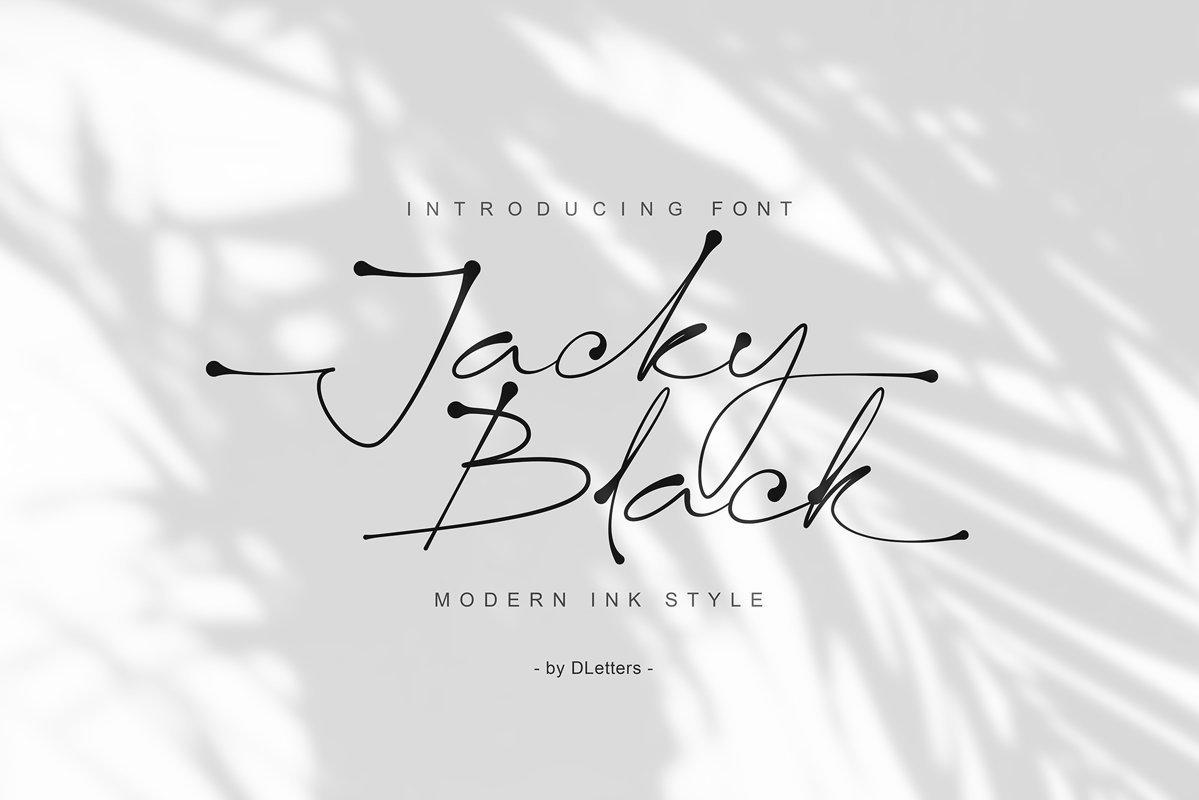 Jacky-Black-Handwritten-Script-Font
