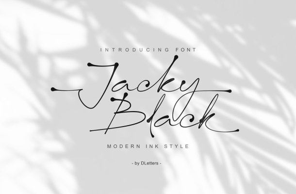 Jacky Black Handwritten Script Font