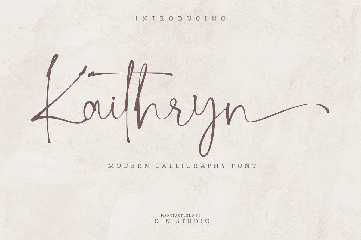 Kaithryn-Handwritten-Script-Font