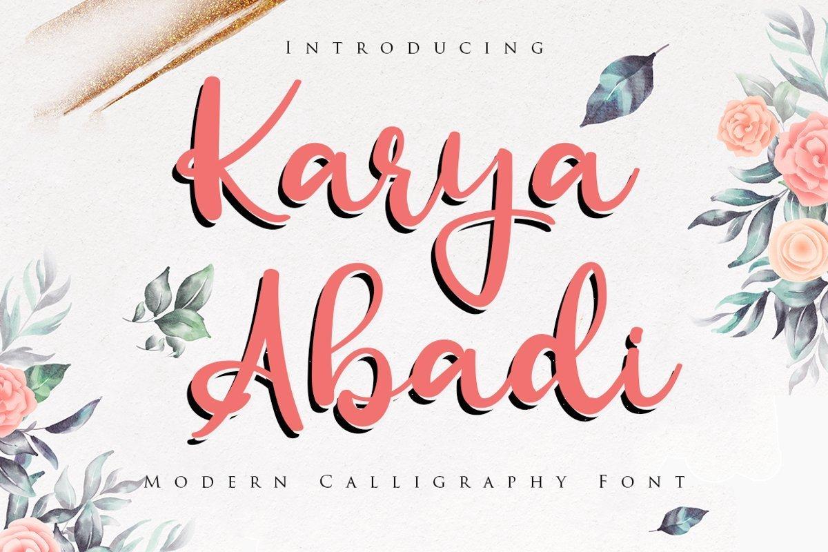 Karya-Abadi-Bold-Calligraphy-Font