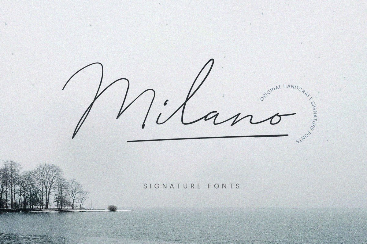 Milano-Signature-Script-Font