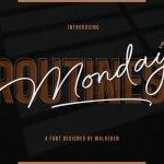 Monday Routines Signature Script Font