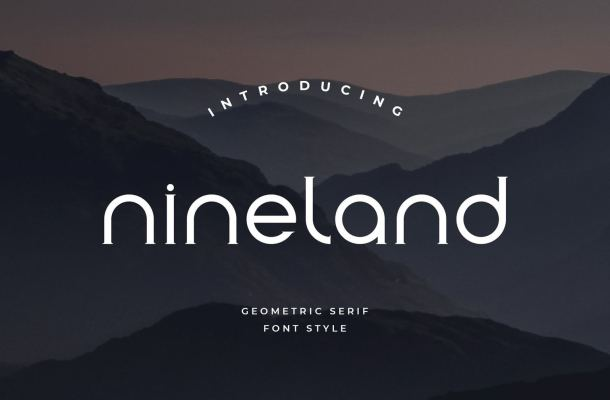 Nineland Geometric Serif Font
