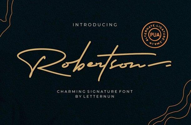 Robertson Signature Script Font