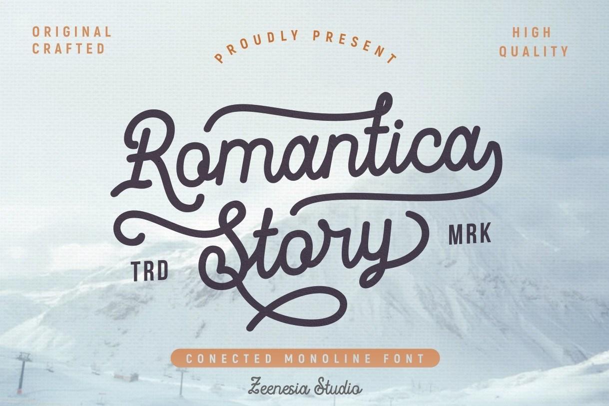 Romantica-Story-Monoline-Script-Font