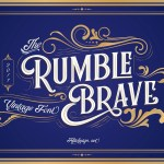 Rumble Brave VIntage Display Font
