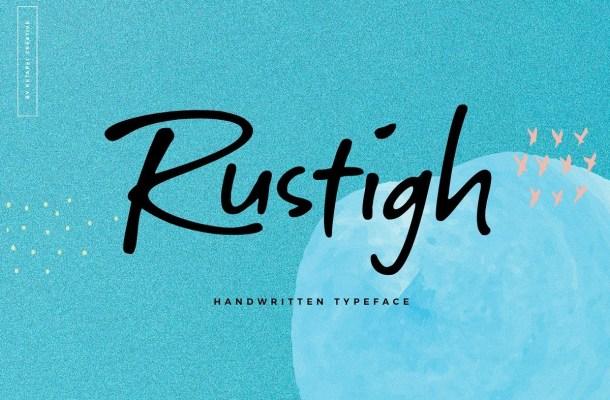 Rustigh Handwritten Script Typeface