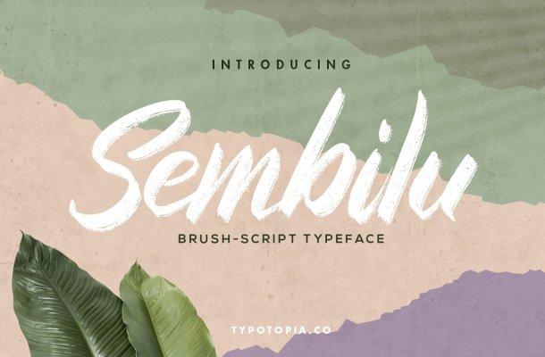 Sembilu Brush Script Typeface
