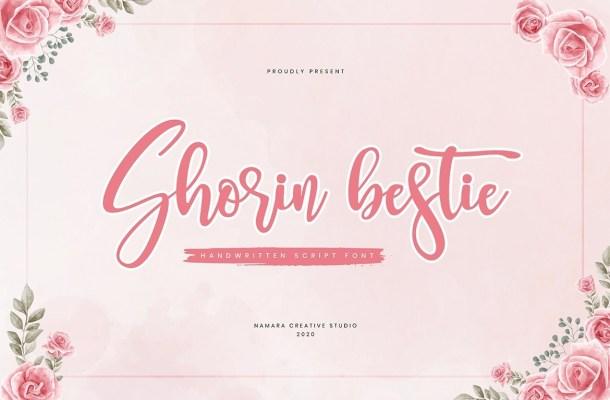 Shorin Bestie Calligraphy Script Font
