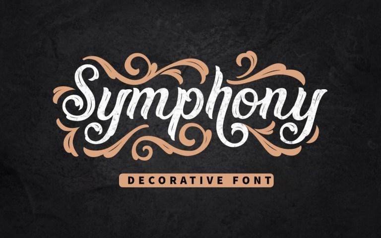 Symphony-Decorative-Display-Font