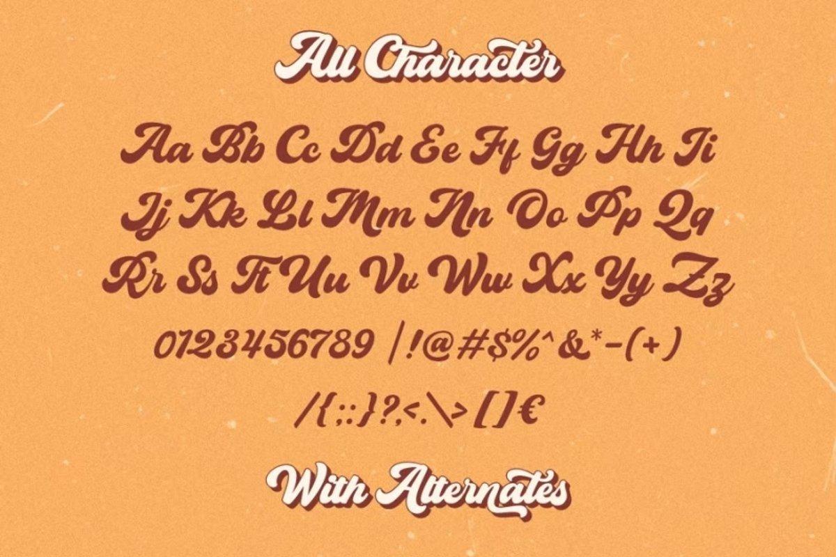 The-Bayland-Retro-Script-Font-3