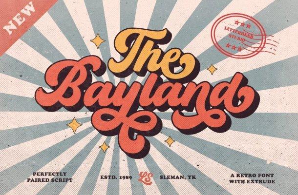 The-Bayland-Retro-Script-Font