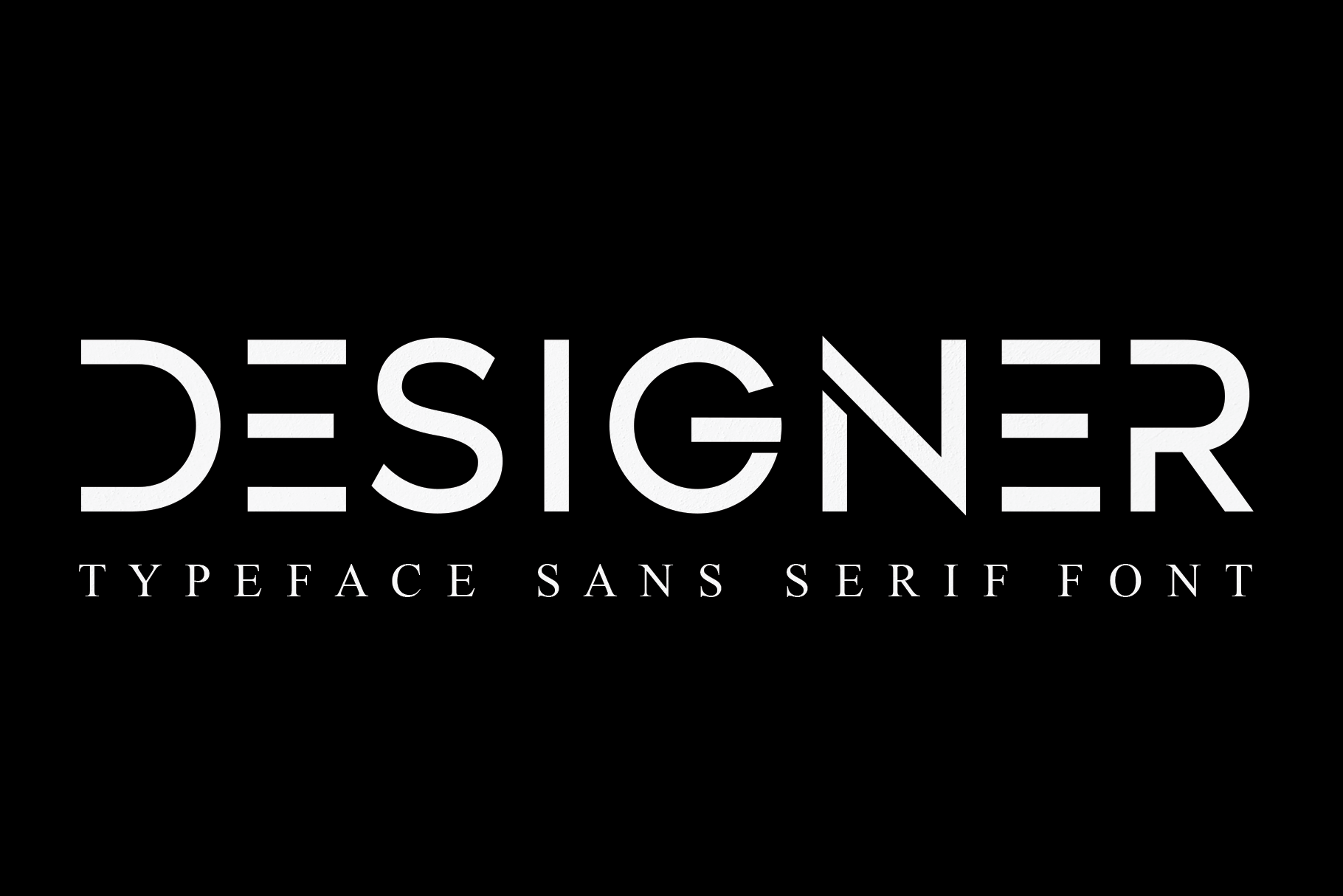 DESIGNER-Typeface