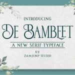 De Bambeet Serif Typeface
