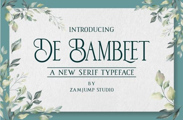 De Bambeet Typeface