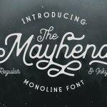Mayhena Monoline Script Font