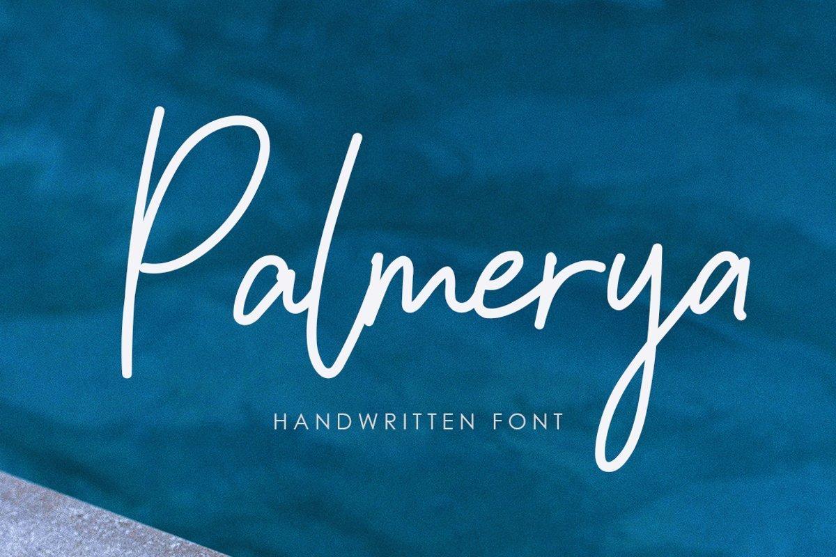 Palmeyra-Handwritten-Script-Font