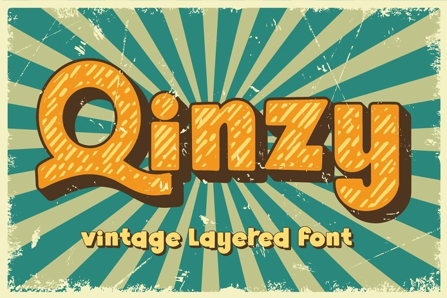 Qinzy-Vintage-Layered-Font