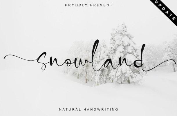 Snowland Natural Handwritten Font