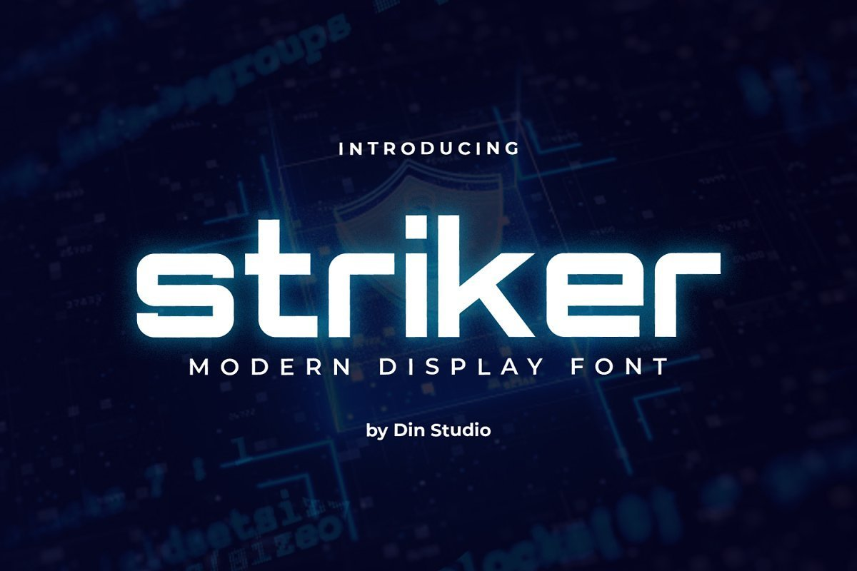 Striker-Modern-Sans-Display-Font