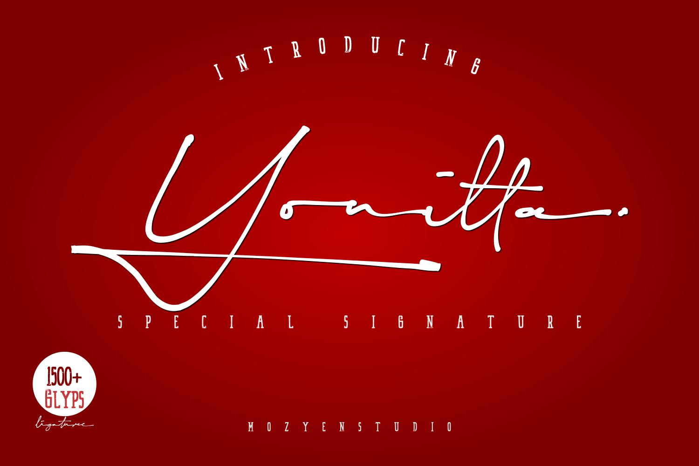 Yonitta-Signature-Script-Font