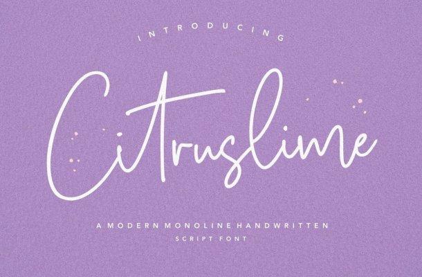 Citruslime Font
