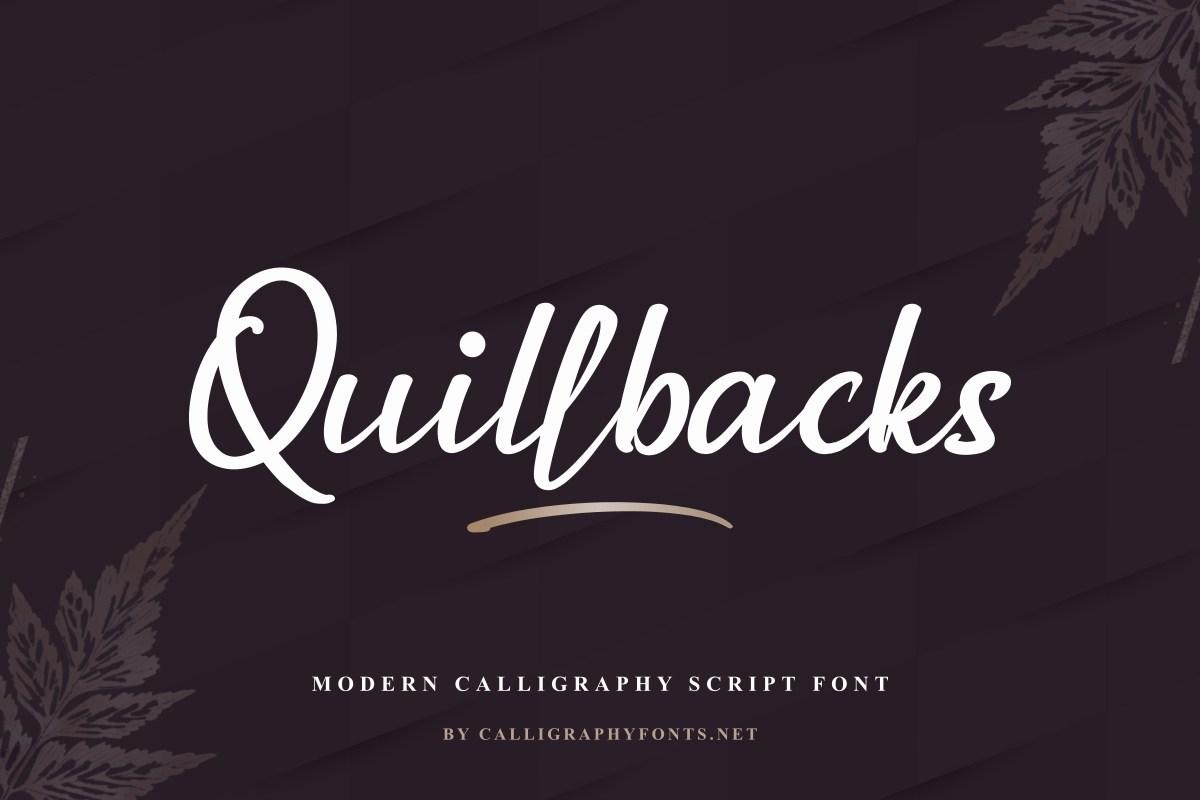 Quillbacks-Font