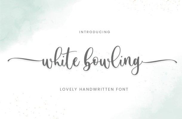White Bowling Font