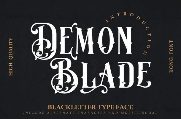 Demon-Blade-Font