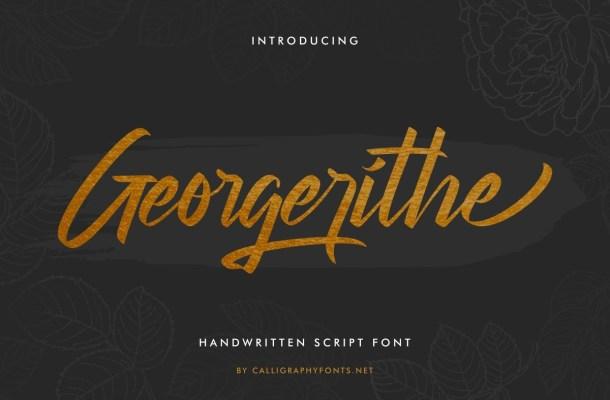 Georgerithe-Font