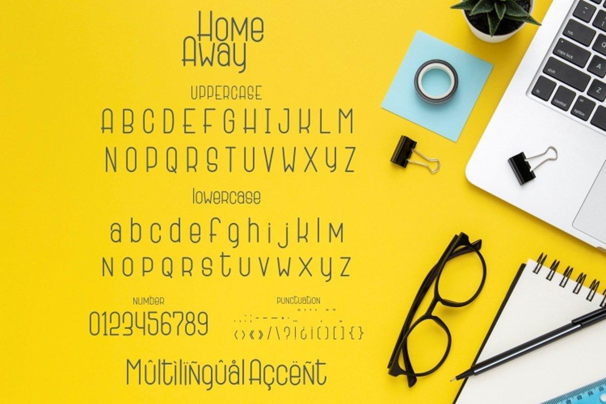 Home-Away-Font-3