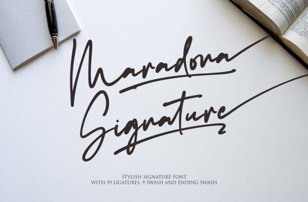 Maradona-Font
