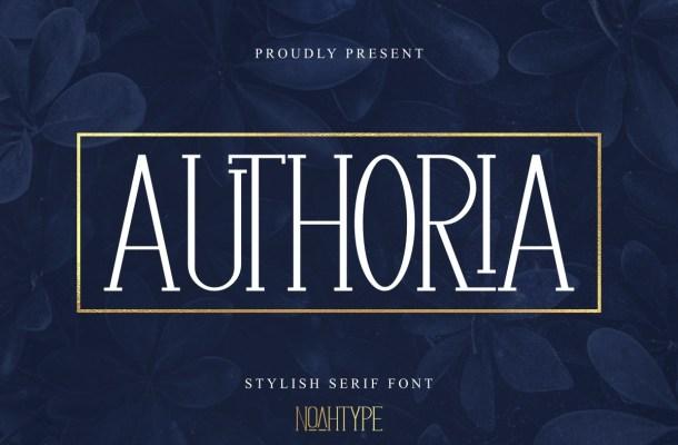 Authoria-Font