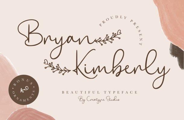 Bryan-Kimberly-Font