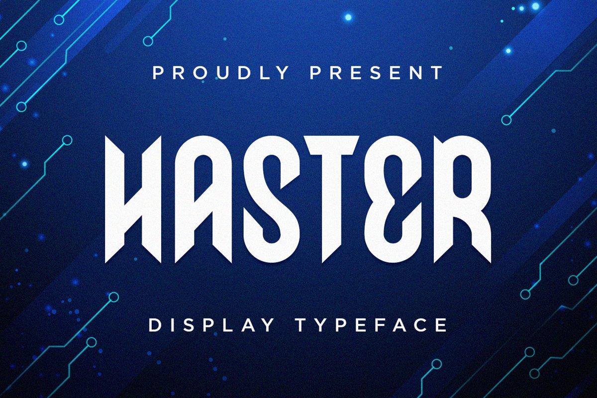 Haster-Font
