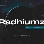 Radhiumz Font