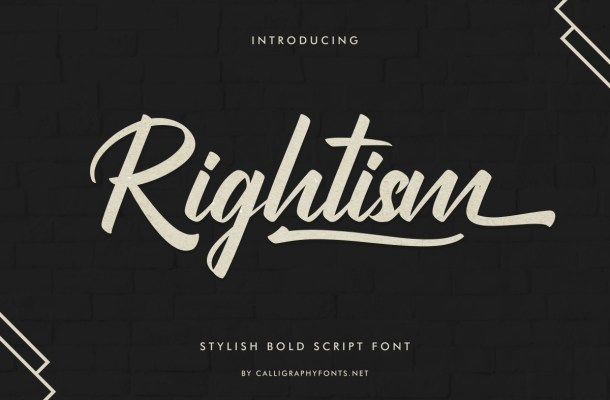 Rightism Font