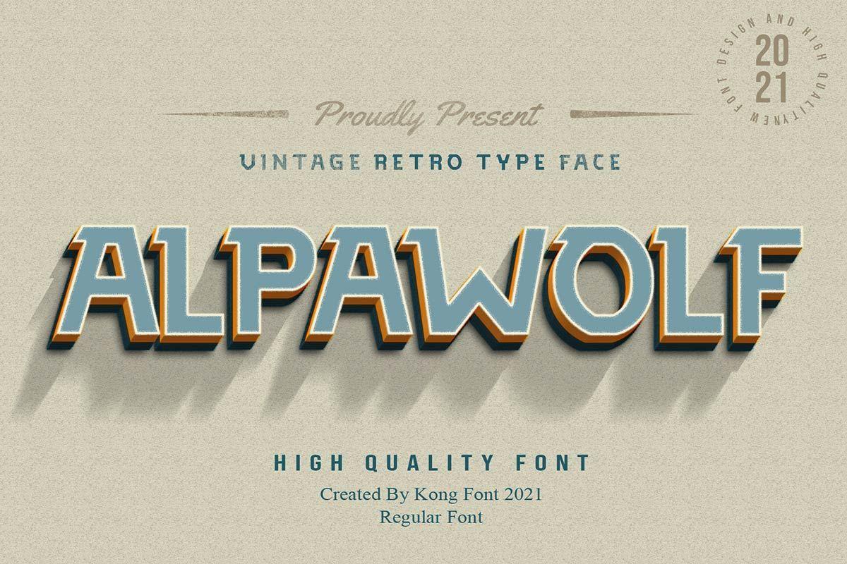 Alpawolf-Font