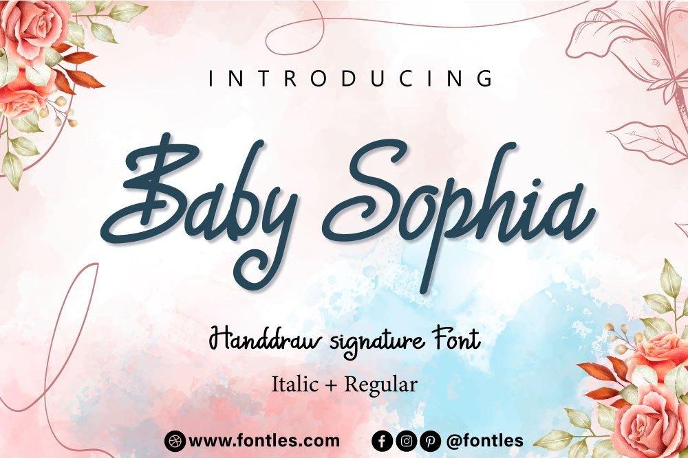 Baby-Sophia-Font