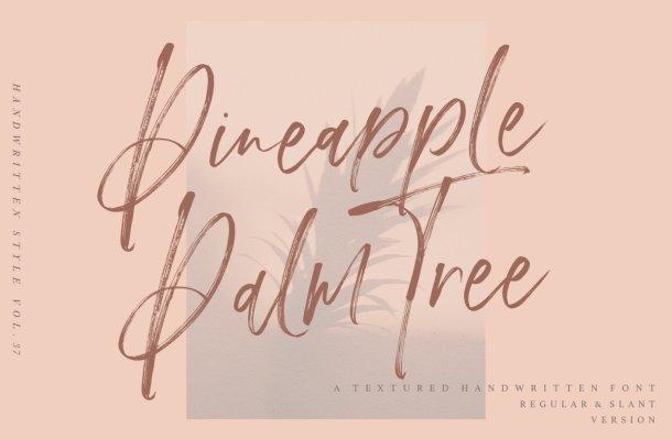Pineapple Palm Tree Font