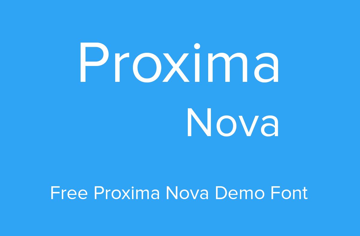 Proxima Nova Font Free Download Fonts
