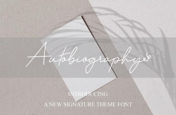 Autobiography Font