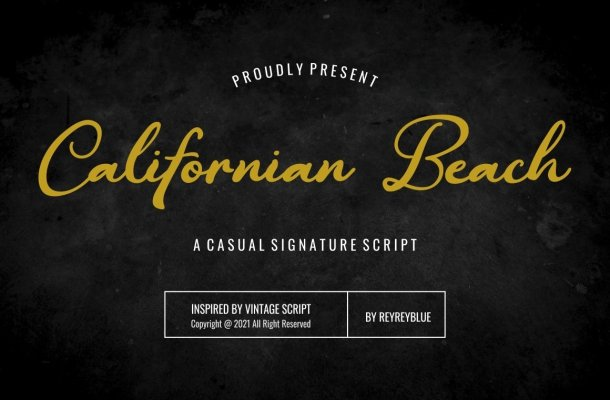 Californian-Beach-Font