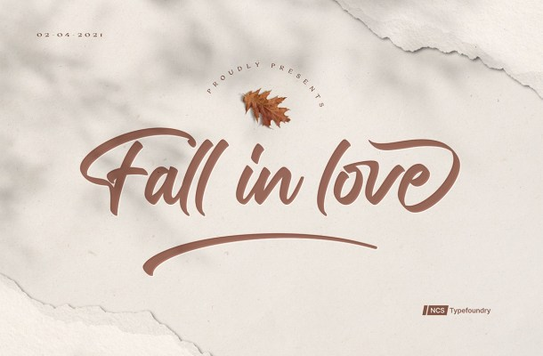 Fall in love Font