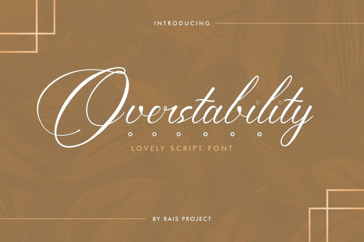 Overstability-Font